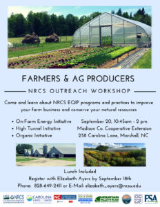 Cover photo for Farmers and Ag Producers NRCS Outreach Education Workshop