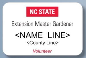 Extension Master Gardener nametag