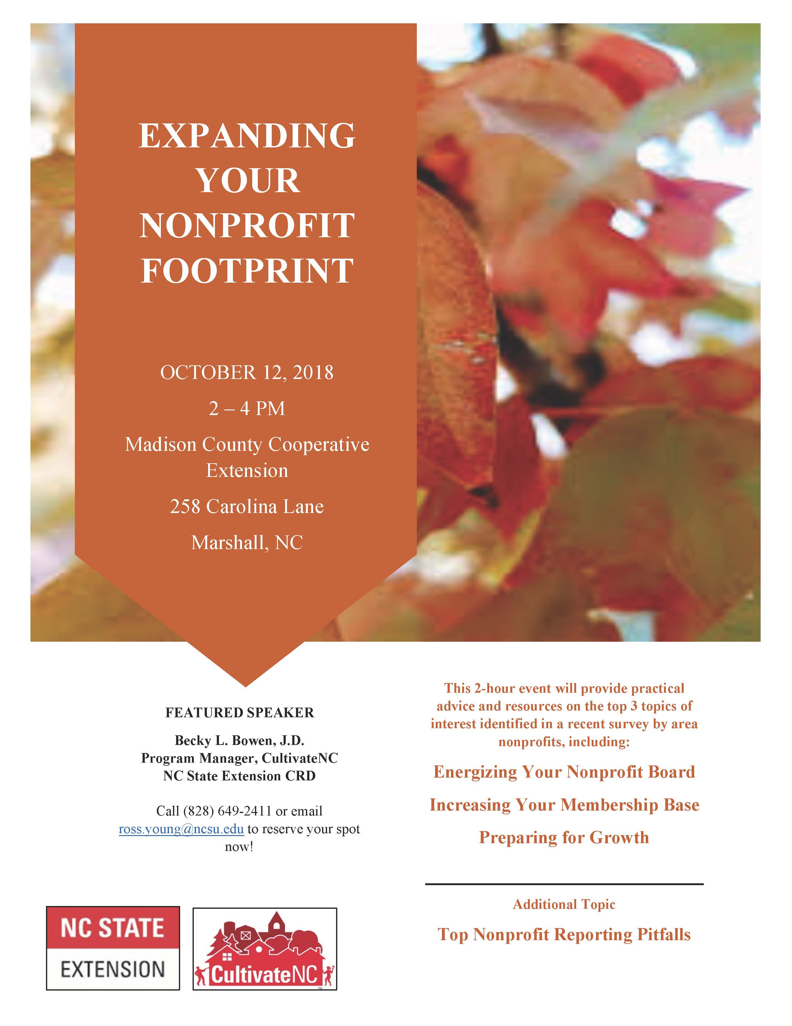 Expanding Your Nonprofit Footprint flyer image