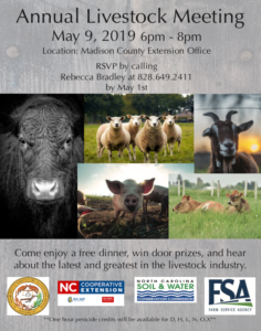 Annual livestock meeting flyer