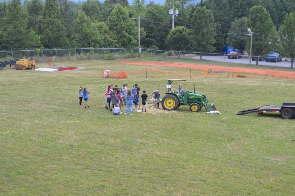 group at tractor demonstration