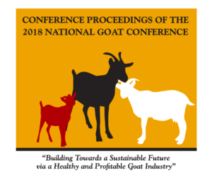 Cover photo for 3rd National Goat Conference Proceedings