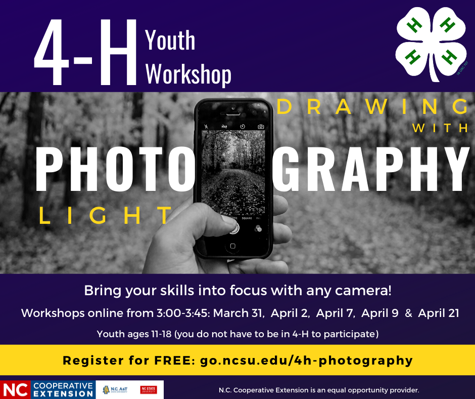 4-H Photography project flyer