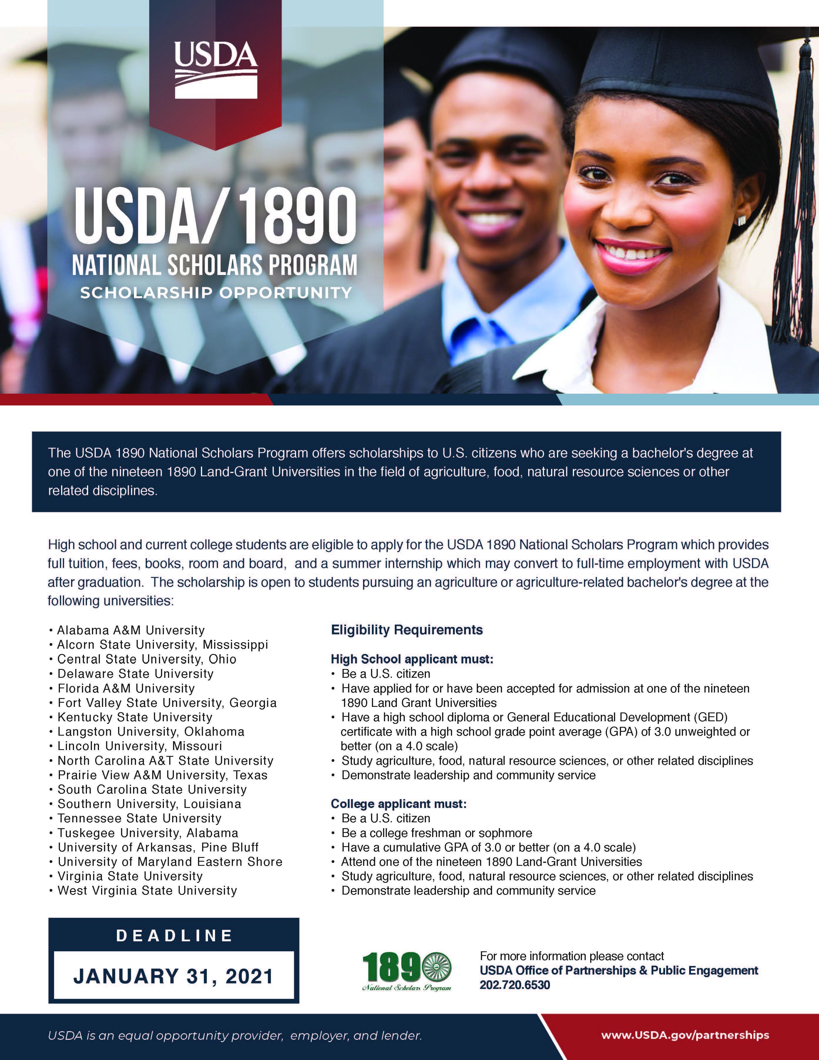Scholars program flyer