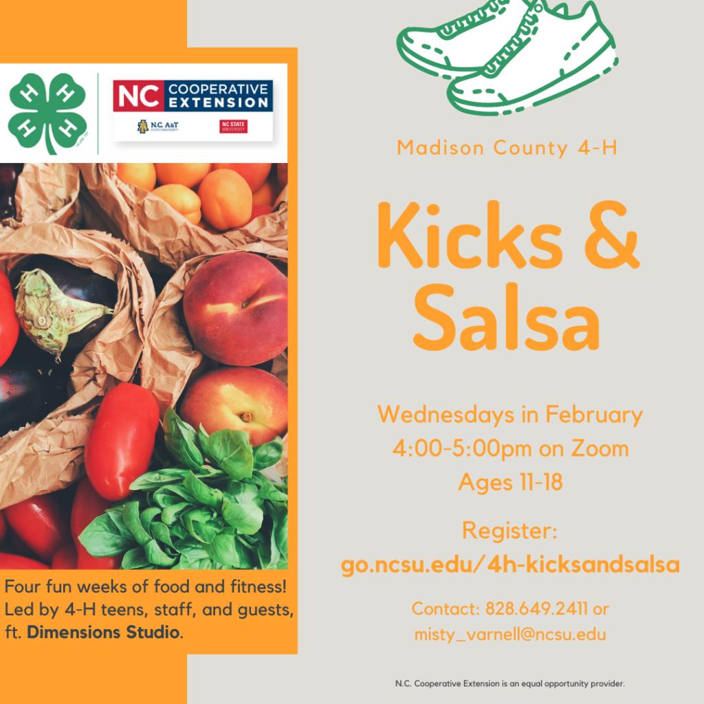 Kicks & Salsa flyer