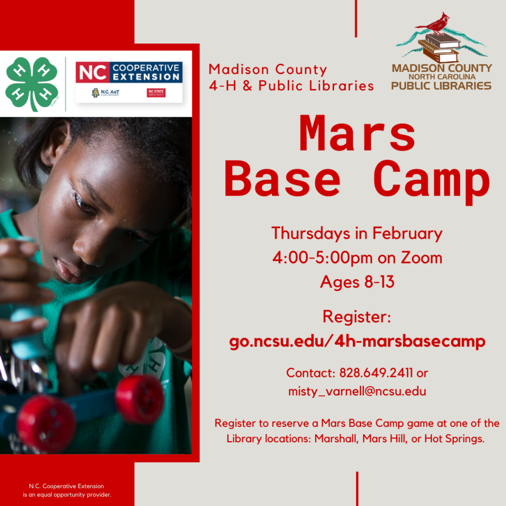 Mars Base Camp Flyer. All info in webpage.