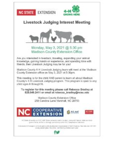 Cover photo for Livestock Judging Interest Meeting