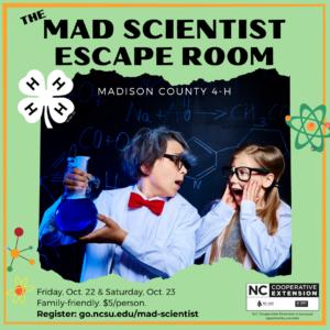 Cover photo for Mad Scientist Escape Room